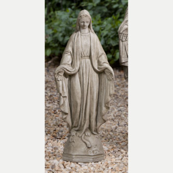 Cast Stone Garden Statues Madonna praying large cast stone garden statue kinsey garden decor madonna small cast stone garden statue workwithnaturefo