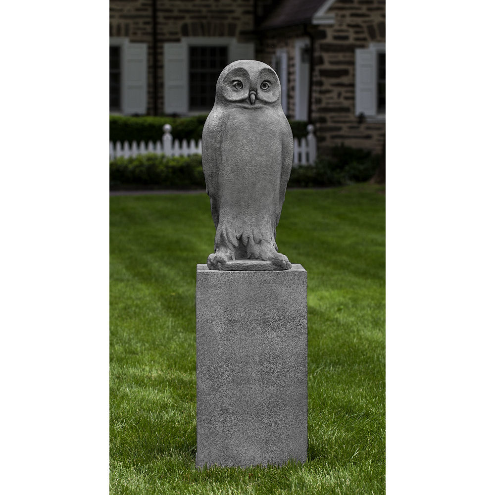 Dr Hoo Owl Large Cast Stone Outdoor Statue Kinsey Garden Decor