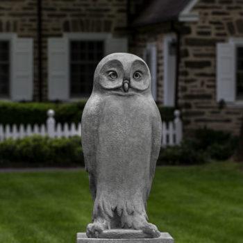 Dr Hoo Owl Large Stone Tall Garden Bird Statue
