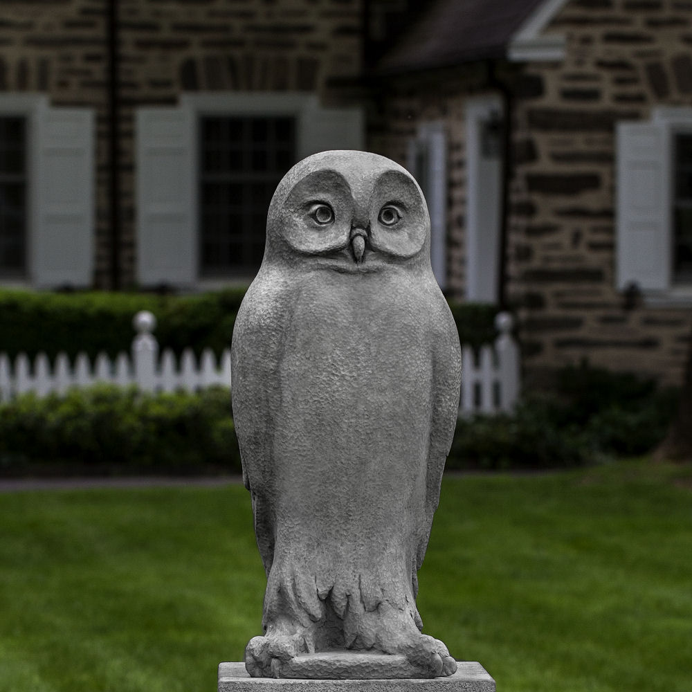 Dr Hoo Owl Large Cast Stone Outdoor