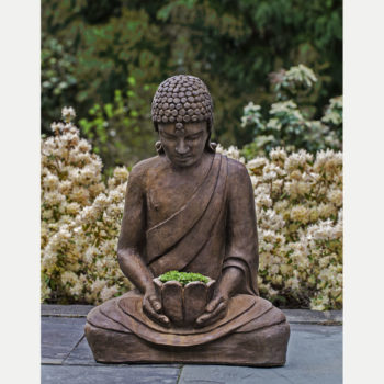 Kinsey Garden Decor Lotus Buddha Planter