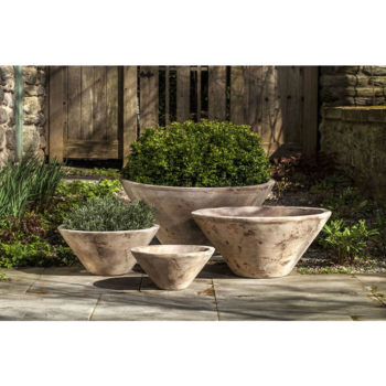 Brasilia Large Low Bowl Planters Antico Terra Cotta