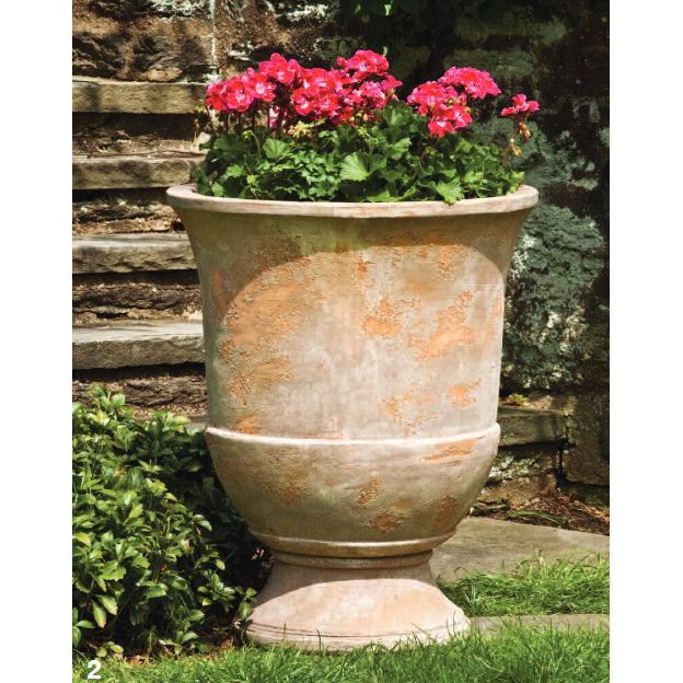 Lipari Terra Cotta Garden Urn Planters, Garden Urns Planters