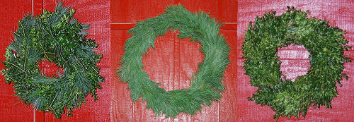 Outdoor holiday wreaths Kinsey Family Farm